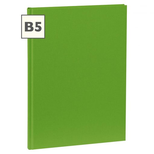 Notebook Classic (B5) book linen cover, 160 pages, plain, lime   4250540921389   351288