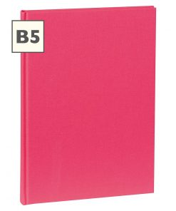 Notebook Classic (B5) book linen cover, 160 pages, plain, pink | 4250540921341 | 351283