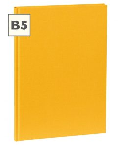 Notebook Classic (B5) book linen cover, 160 pages, plain, sun | 4250540921303 | 351279