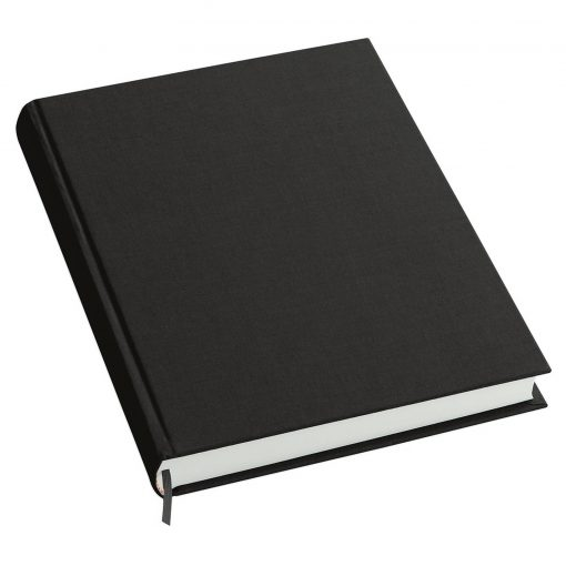 Notebook History Classic (A4) book linen cover, 160 pages, plain, black | 4250053606278 | 351252