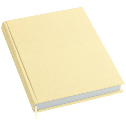 Notebook History Classic (A4) book linen cover, 160 pages, plain, chamois | 4250053645284 | 351260