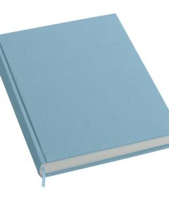 Notebook History Classic (A4) book linen cover, 160 pages, plain, ciel | 4250053606292 | 351254