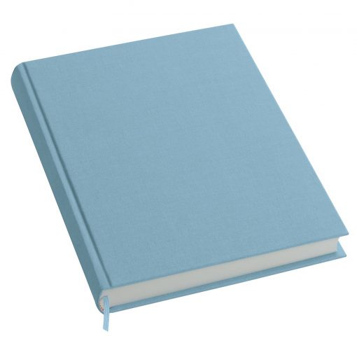 Notebook History Classic (A4) book linen cover, 160 pages, plain, ciel   4250053606292   351254