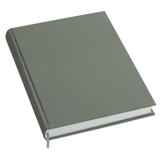 Notebook History Classic (A4) book linen cover, 160 pages, plain, grey | 4250053616185 | 351258