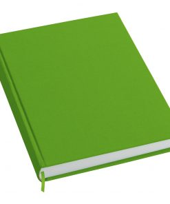 Notebook History Classic (A4) book linen cover, 160 pages, plain, lime | 4250053606322 | 351256