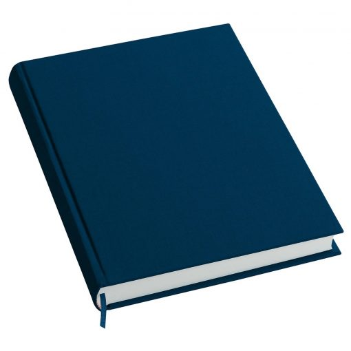 Notebook History Classic (A4) book linen cover, 160 pages, plain, marine | 4250053606230 | 351248