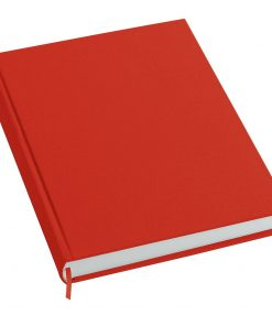 Notebook History Classic (A4) book linen cover, 160 pages, plain, red | 4250053606247 | 351249