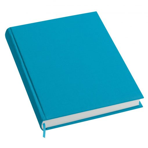 Notebook History Classic (A4) book linen cover, 160 pages, plain, turquoise | 4250053696323 | 351262