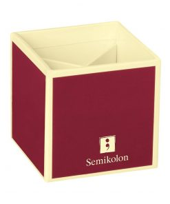 Pencil Cup with 4 separate compartments, burgundy | 4250540910802 | 352844
