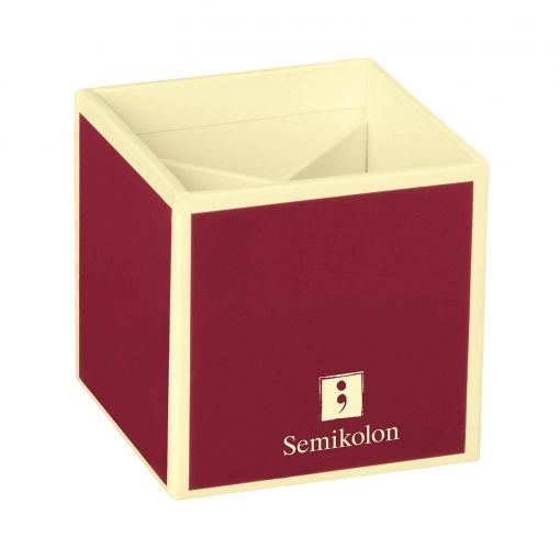 Pencil Cup with 4 separate compartments, burgundy   4250540910802   352844