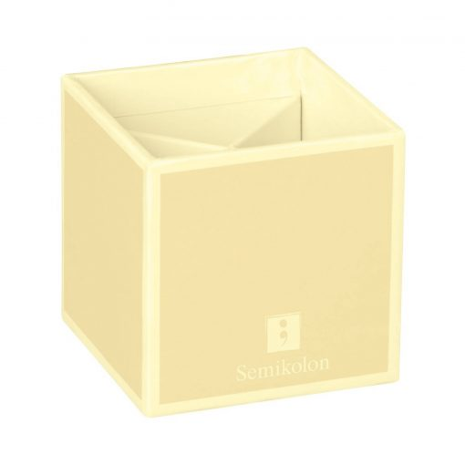 Pencil Cup with 4 separate compartments, chamois | 4250540910888 | 352853