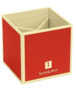Pencil Cup with 4 separate compartments, red | 4250540910796 | 352843