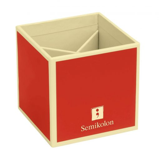 Pencil Cup with 4 separate compartments, red   4250540910796   352843