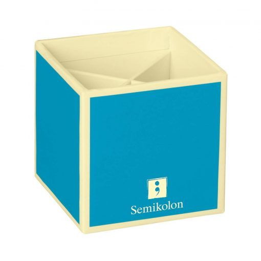 Pencil Cup with 4 separate compartments, turquoise | 4250540910901 | 352855
