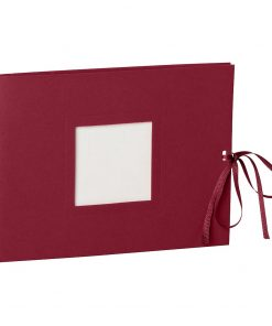 Photo booklet, landscape format, 10 sheets, 15 x 10cm, burgundy | 4250540902364 | 351541