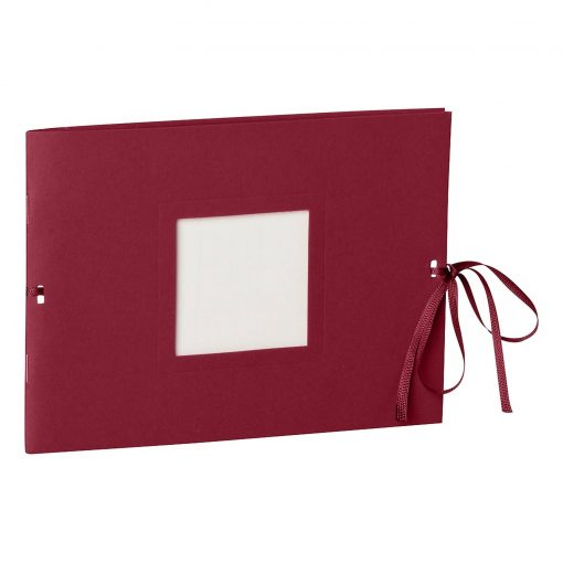 Photo booklet, landscape format, 10 sheets, 15 x 10cm, burgundy   4250540902364   351541