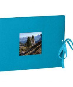 Photo booklet, landscape format, 10 sheets, 15 x 10cm, turquoise | 4250540902463 | 351551