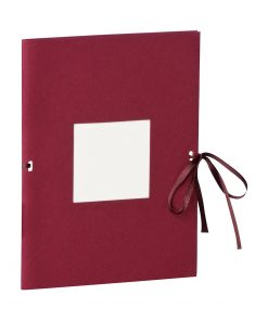 Photo booklet, portrait format, 10 sheets, 10 x 15cm, burgundy | 4250540902227 | 351528