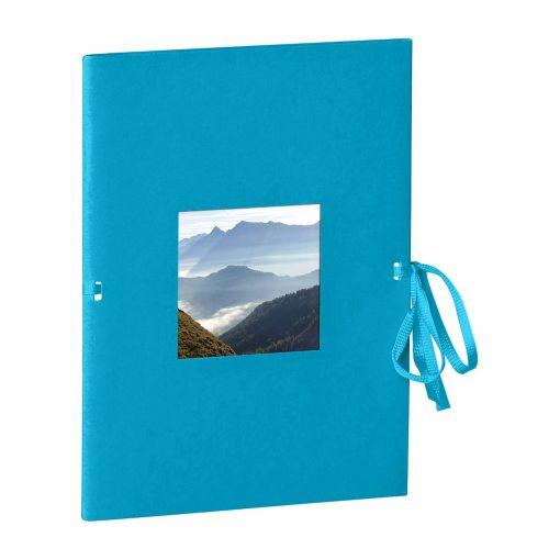 Photo booklet, portrait format, 10 sheets, 10 x 15cm, turquoise | 4250540902326 | 351537