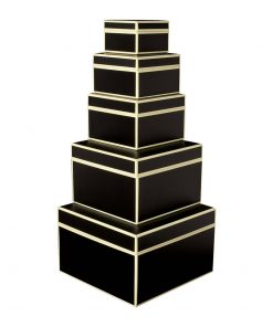 Set of 5 Gift Boxes, black | 4250053641736 | 352080