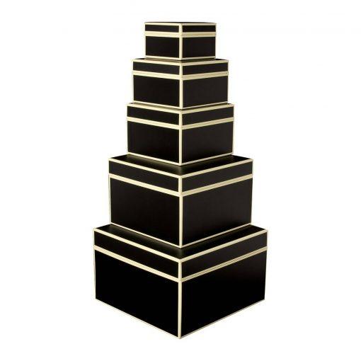 Set of 5 Gift Boxes, black | 4250053641736 | 352080