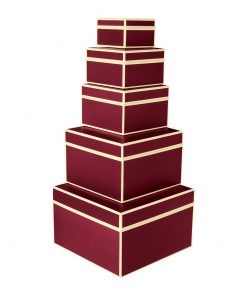 Set of 5 Gift Boxes, burgundy | 4250053641712 | 352068