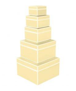 Set of 5 Gift Boxes, chamois   4250053640005   352175