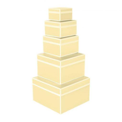 Set of 5 Gift Boxes, chamois | 4250053640005 | 352175