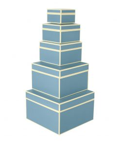 Set of 5 Gift Boxes, ciel | 4250053641750 | 352092