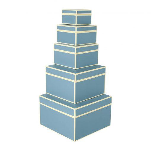 Set of 5 Gift Boxes, ciel | 4250053641750 | 352092