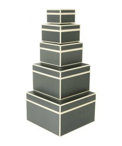 Set of 5 Gift Boxes, grey | 4250053641781 | 352163