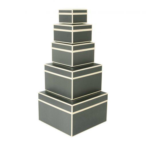 Set of 5 Gift Boxes, grey | 4250053641781 | 352163