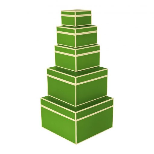 Set of 5 Gift Boxes, lime | 4250053641774 | 352156