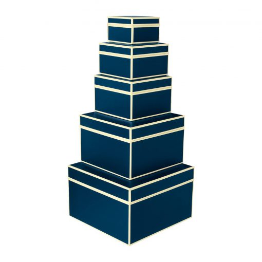 Set of 5 Gift Boxes, marine | 4250053641699 | 352056