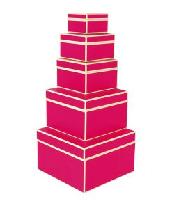 Set of 5 Gift Boxes, pink | 4250053641729 | 352074