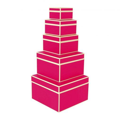 Set of 5 Gift Boxes, pink | 4250053641729 | 352074