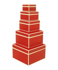 Set of 5 Gift Boxes, red | 4250053641705 | 352062