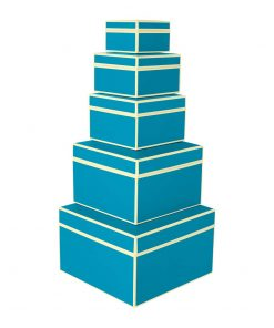 Set of 5 Gift Boxes, turquoise | 4250053696873 | 352187