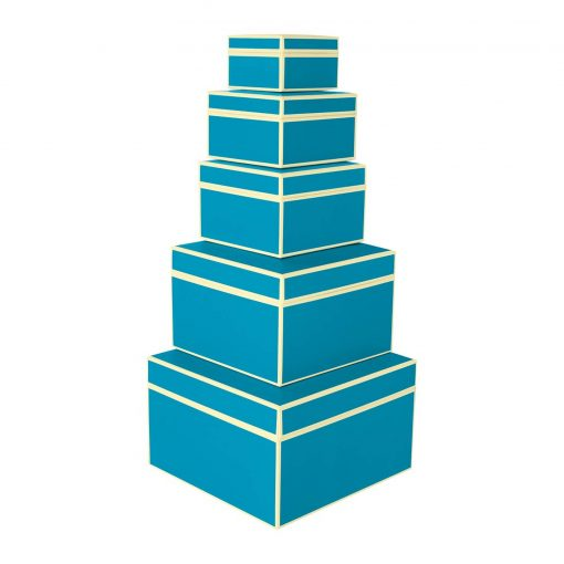 Set of 5 Gift Boxes, turquoise   4250053696873   352187