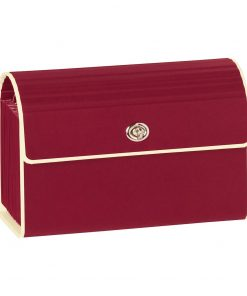 Small Accordion File, 12 expanding pockets, metal turn-lock closure, tab labels, burgundy | 4250053618745 | 351965