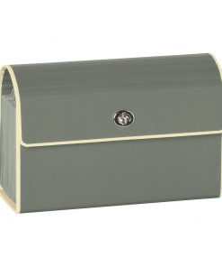 Small Accordion File, 12 expanding pockets, metal turn-lock closure, tab labels, grey | 4250053618820 | 351972