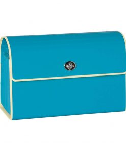 Small Accordion File, 12 expanding pockets, metal turn-lock closure, tab labels, turquois | 4250053696774 | 351976