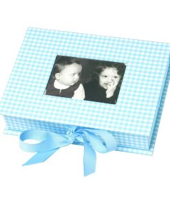 Small Photobox with cut out window, vichy blue | 4250053600146 | 352525