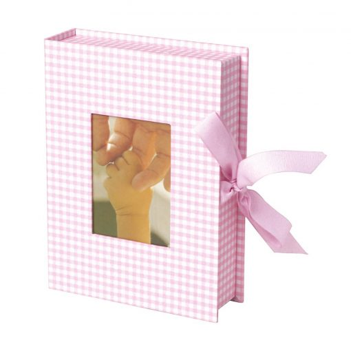 Small Photobox with cut out window, vichy pink   4250053600139   352524