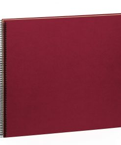 Spiral Album Economy Large,50 cream white pages,photo mounting board,efalin cover,burgundy | 4250540901015 | 352931