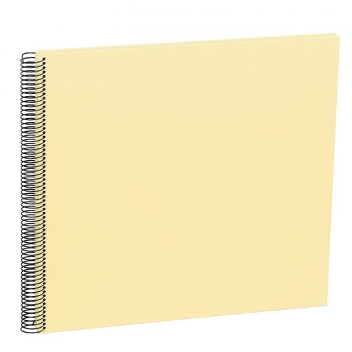 Spiral Album Economy Large,50 cream white pages,photo mounting board, efalin cover,chamois | 4250540901091 | 352941