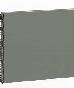 Spiral Album Economy Large,50 cream white pages,photo mounting board, efalin cover, grey | 4250540901077 | 352939