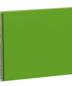 Spiral Album Economy Large,50 cream white pages,photo mounting board, efalin cover, lime | 4250540901060 | 352937