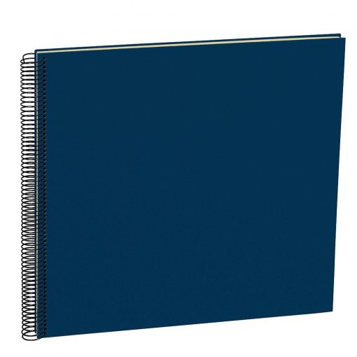 Spiral Album Economy Large,50 cream white pages,photo mounting board, efalin cover, marine | 4250540900995 | 352929