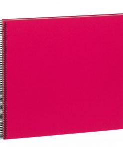 Spiral Album Economy Large,50 cream white pages,photo mounting board, efalin cover, pink | 4250540901022 | 352932